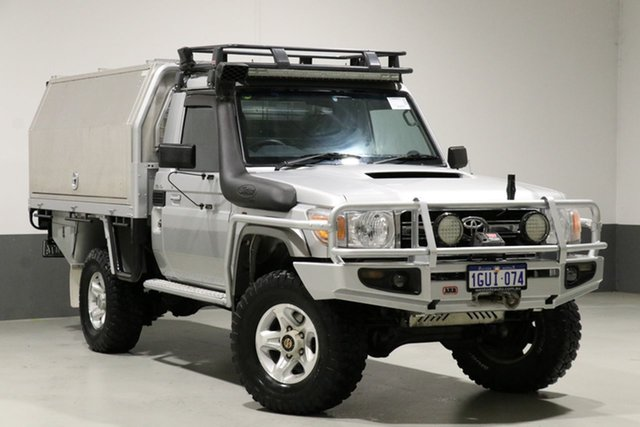 Used Toyota Landcruiser VDJ79R MY12 Update GXL (4x4), 2012 Toyota Landcruiser VDJ79R MY12 Update GXL (4x4) Silver 5 Speed Manual Cab Chassis
