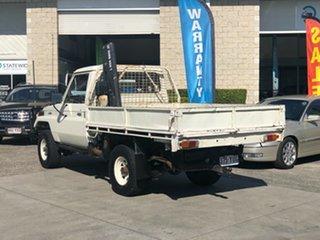 1986 Toyota Landcruiser HJ75 LWB White 5 Speed Manual Utility.