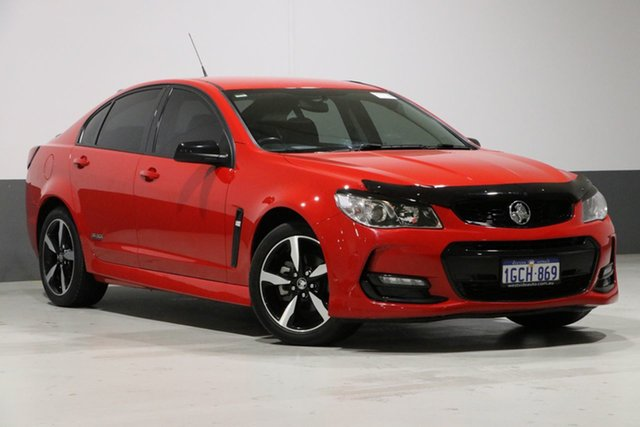 Used Holden Commodore Vfii MY16 SV6 Black Edition, 2016 Holden Commodore Vfii MY16 SV6 Black Edition Red 6 Speed Automatic Sedan
