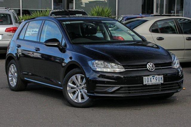 Demo Volkswagen Golf 7.5 MY19.5 110TSI DSG Trendline, 2019 Volkswagen Golf 7.5 MY19.5 110TSI DSG Trendline Deep Black Pearl Effect 7 Speed