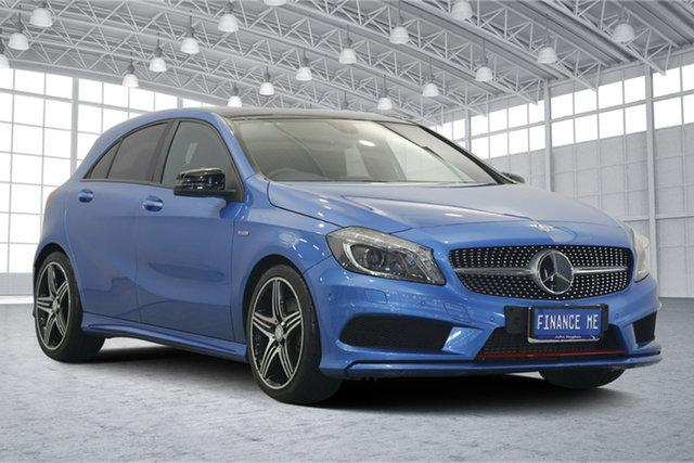 Used Mercedes-Benz A250 W176 Sport D-CT, 2013 Mercedes-Benz A250 W176 Sport D-CT Blue 7 Speed Sports Automatic Dual Clutch Hatchback