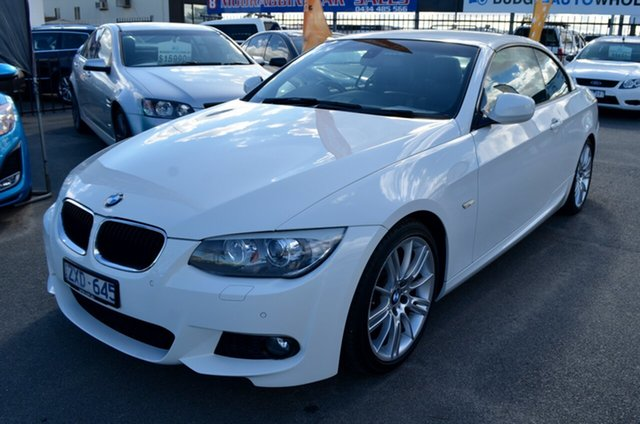 Used BMW 3 Series E93 MY0312 320d Steptronic Cheltenham, 2012 BMW 3 Series E93 MY0312 320d Steptronic White 6 Speed Sports Automatic Convertible