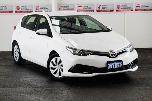 Used Toyota Corolla ZRE182R MY15 Ascent, 2015 Toyota Corolla ZRE182R MY15 Ascent Glacier White 7 Speed CVT Auto Sequential Hatchback