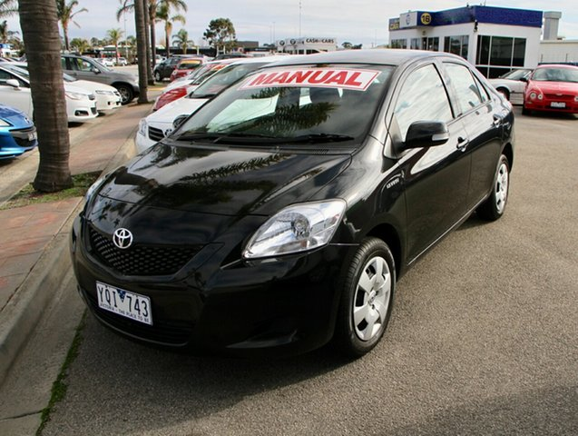 Used Toyota Yaris NCP93R 10 Upgrade YRS, 2011 Toyota Yaris NCP93R 10 Upgrade YRS Black 5 Speed Manual Sedan