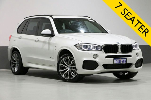 Used BMW X5 F15 MY14 xDrive 40D, 2014 BMW X5 F15 MY14 xDrive 40D White 8 Speed Automatic Wagon