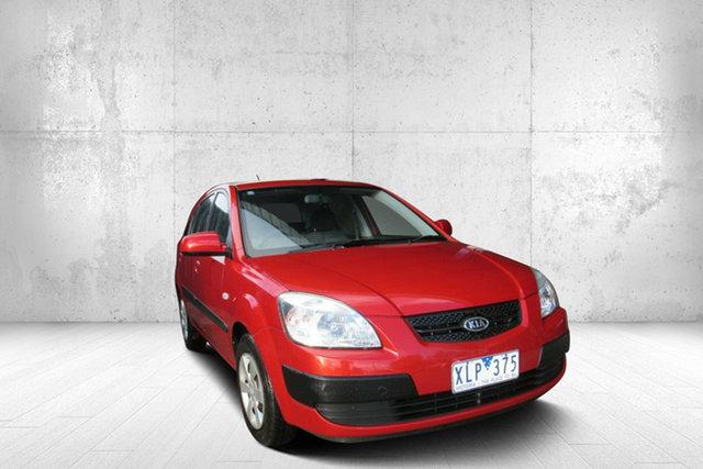 Used Kia Rio LX LX, 2008 Kia Rio LX LX Red 4 Speed Automatic Hatchback