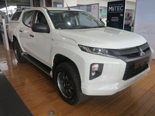 2019 Mitsubishi Triton MR MY19 GLX+ Double Cab White 6 Speed Manual Double Cab Pickup.