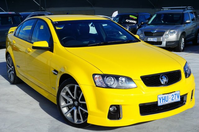 Used Holden Commodore VE II SS V, 2011 Holden Commodore VE II SS V Yellow 6 Speed Manual Sedan