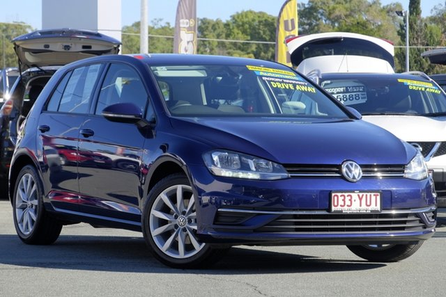 Used Volkswagen Golf 7.5 MY18 110TSI DSG Comfortline, 2017 Volkswagen Golf 7.5 MY18 110TSI DSG Comfortline Blue 7 Speed Sports Automatic Dual Clutch