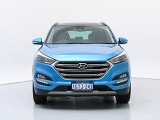 2018 Hyundai Tucson TLE2 MY18 Highlander (AWD) Ara Blue 7 Speed Auto Dual Clutch Wagon.