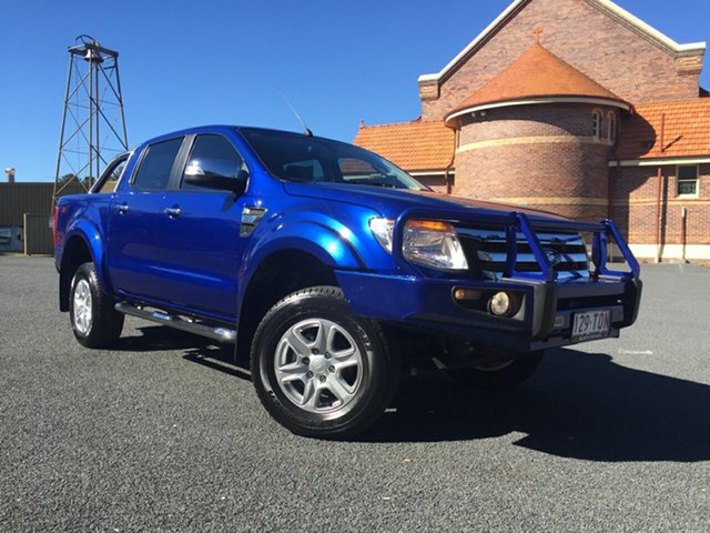 Used Ford Ranger PX XLT 3.2 (4x4), 2014 Ford Ranger PX XLT 3.2 (4x4) Blue 6 Speed Manual Dual Cab Utility