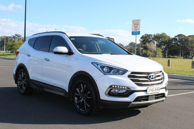 Used Hyundai Santa Fe DM5 MY18 Active X 2WD, 2017 Hyundai Santa Fe DM5 MY18 Active X 2WD White Pearl 6 Speed Sports Automatic Wagon