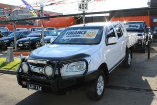 2015 Holden Colorado RG MY15 LS (4x4) White 6 Speed Automatic Space Cab Chassis.