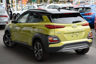 2019 Hyundai Kona OS.2 MY19 Highlander 2WD Acid Yellow & Black Roof 6 Speed Sports Automatic Wagon.