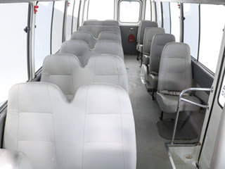2014 Toyota Coaster XZB50R 07 Upgrade Standard (LWB) White Bus