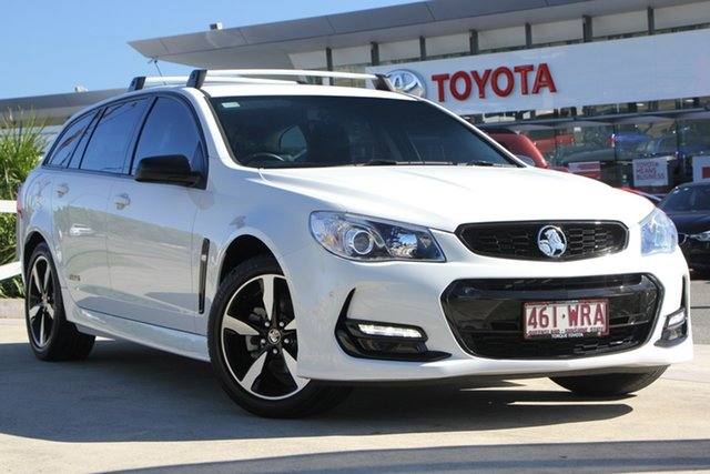 Used Holden Commodore VF II MY16 SV6 Sportwagon Black, 2016 Holden Commodore VF II MY16 SV6 Sportwagon Black White 6 Speed Sports Automatic Wagon