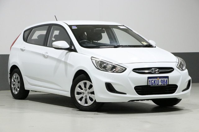 Used Hyundai Accent RB4 MY17 Active, 2017 Hyundai Accent RB4 MY17 Active White 6 Speed CVT Auto Sequential Hatchback