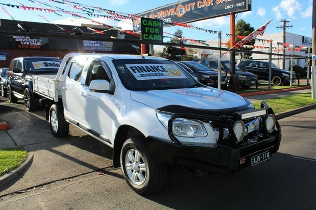 Used Holden Colorado RG MY15 LS (4x4), 2015 Holden Colorado RG MY15 LS (4x4) White 6 Speed Automatic Space Cab Chassis