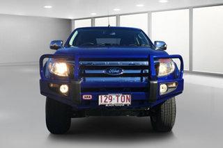 2014 Ford Ranger PX XLT 3.2 (4x4) Blue 6 Speed Manual Dual Cab Utility