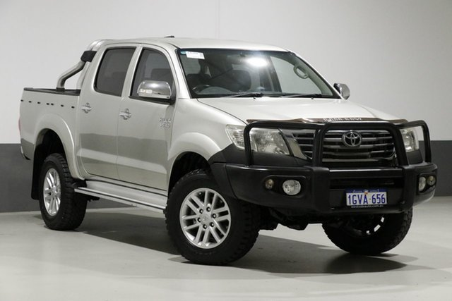 Used Toyota Hilux GGN25R MY12 SR5 (4x4), 2012 Toyota Hilux GGN25R MY12 SR5 (4x4) Silver 5 Speed Manual Dual Cab Pick-up
