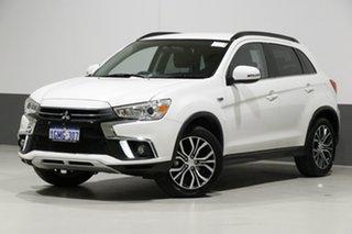 2018 Mitsubishi ASX XC MY19 ES (2WD) White Continuous Variable Wagon.