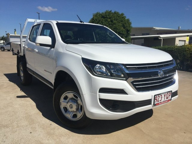 Used Holden Colorado RG MY19 LS Crew Cab, 2018 Holden Colorado RG MY19 LS Crew Cab Summit White 6 Speed Sports Automatic Cab Chassis