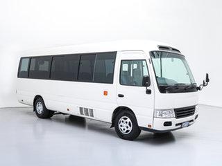 2014 Toyota Coaster XZB50R 07 Upgrade Standard (LWB) White Bus.