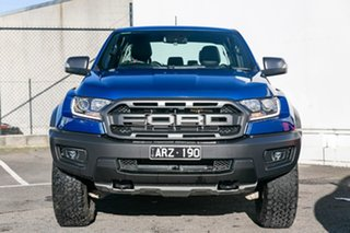 2018 Ford Ranger PX MkIII 2019.00MY Raptor Pick-up Double Cab Blue 10 Speed Sports Automatic Utility.