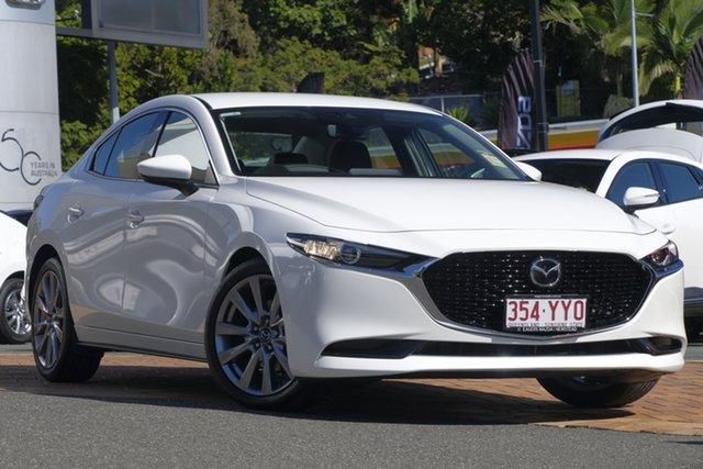 Demo Mazda 3 BP2SLA G25 SKYACTIV-Drive GT, 2019 Mazda 3 BP2SLA G25 SKYACTIV-Drive GT Snowflake White 6 Speed Sports Automatic Sedan