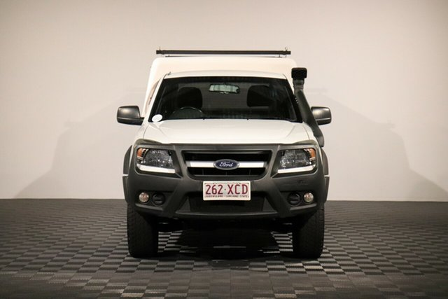 Used Ford Ranger PK XL Super Cab, 2010 Ford Ranger PK XL Super Cab Cool White 5 Speed Manual Cab Chassis