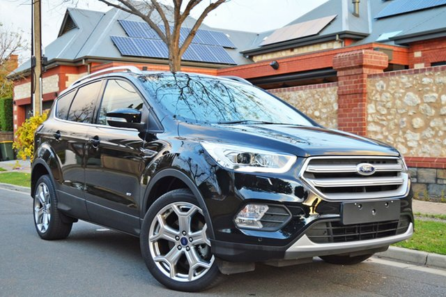 Used Ford Escape ZG 2018.00MY Titanium AWD, 2018 Ford Escape ZG 2018.00MY Titanium AWD Black 6 Speed Sports Automatic Wagon