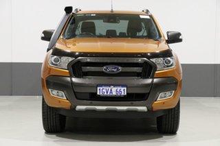 2016 Ford Ranger PX MkII Wildtrak 3.2 (4x4) Orange 6 Speed Automatic Dual Cab Pick-up.