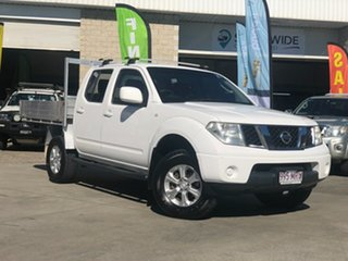 2009 Nissan Navara D40 ST White 6 Speed Manual Utility.