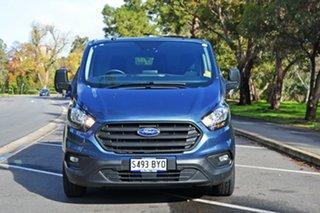 2018 Ford Transit Custom VN 2018.5MY 300S Low Roof SWB Blue Metallic/matchi 6 Speed Manual Van