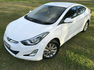 2014 Hyundai Elantra MD Series 2 (MD3) Trophy White 6 Speed Automatic Sedan.
