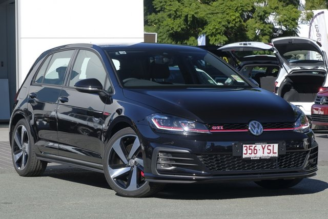 Demo Volkswagen Golf 7.5 MY19 GTI DSG, 2018 Volkswagen Golf 7.5 MY19 GTI DSG Deep Black Pearl Effect 7 Speed Sports Automatic Dual Clutch