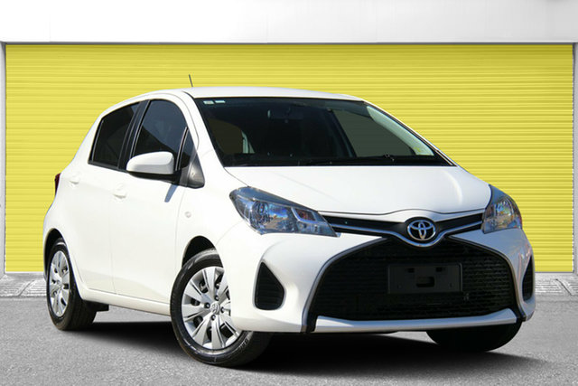 Used Toyota Yaris NCP130R Ascent, 2016 Toyota Yaris NCP130R Ascent White 5 Speed Manual Hatchback