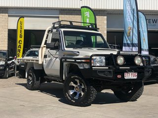 2008 Toyota Landcruiser VDJ79R GX White 5 Speed Manual Cab Chassis.