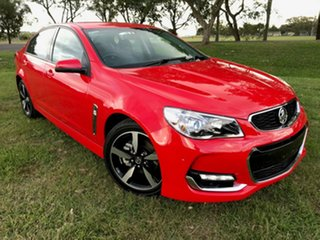 2017 Holden Commodore VF II MY17 SV6 Red 6 Speed Sports Automatic Sedan.