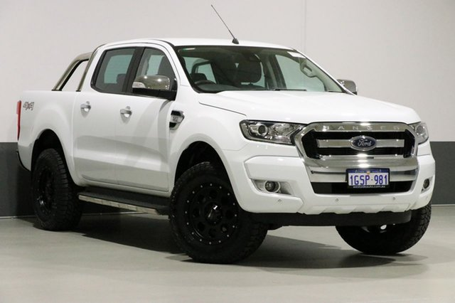 Used Ford Ranger PX MkII MY18 XLT 3.2 (4x4), 2018 Ford Ranger PX MkII MY18 XLT 3.2 (4x4) White 6 Speed Automatic Dual Cab Utility