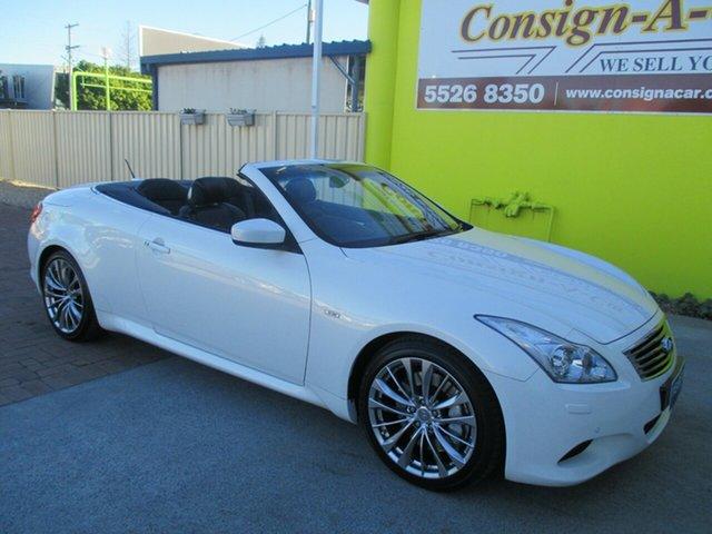 Used Infiniti G37 V36 G S Premium, 2012 Infiniti G37 V36 G S Premium White 7 Speed Automatic Convertible
