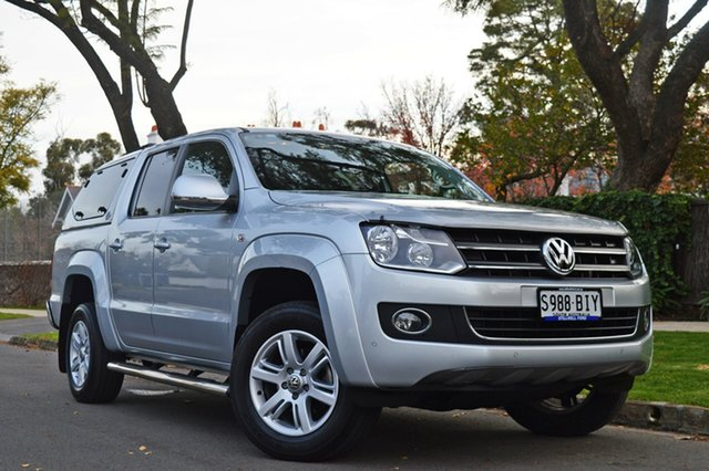 Used Volkswagen Amarok 2H MY15 TDI420 4Motion Perm Highline, 2015 Volkswagen Amarok 2H MY15 TDI420 4Motion Perm Highline Silver 8 Speed Automatic Utility