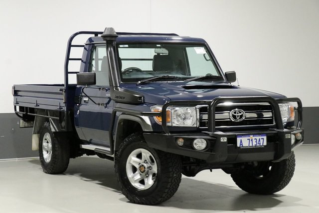 Used Toyota Landcruiser VDJ79R MY12 Update GXL (4x4), 2014 Toyota Landcruiser VDJ79R MY12 Update GXL (4x4) Blue 5 Speed Manual Cab Chassis
