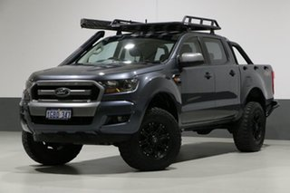 2016 Ford Ranger PX MkII XLS 3.2 (4x4) Grey 6 Speed Automatic Dual Cab Utility.