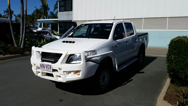 Used Toyota Hilux KUN26R MY14 SR Double Cab, 2014 Toyota Hilux KUN26R MY14 SR Double Cab Glacier 5 Speed Automatic Utility