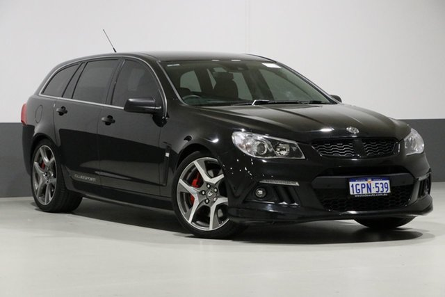 Used Holden Special Vehicles ClubSport Gen F MY15 R8 Tourer, 2015 Holden Special Vehicles ClubSport Gen F MY15 R8 Tourer Black 6 Speed Auto Active Sequential