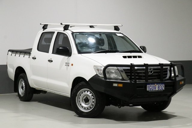 Used Toyota Hilux KUN16R MY12 SR, 2012 Toyota Hilux KUN16R MY12 SR White 5 Speed Manual Dual Cab Pick-up