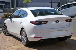 2020 Mazda 3 BP2SLA G25 SKYACTIV-Drive GT Snowflake White Pearl 6 Speed Sports Automatic Sedan.