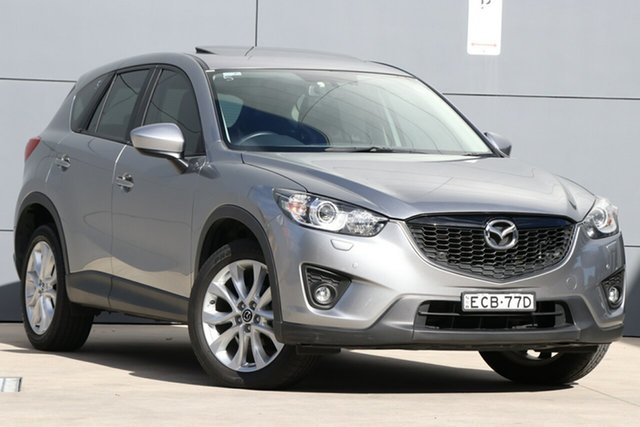 Used Mazda CX-5 KE1031 MY14 Grand Touring SKYACTIV-Drive AWD, 2014 Mazda CX-5 KE1031 MY14 Grand Touring SKYACTIV-Drive AWD Silver 6 Speed Sports Automatic Wagon