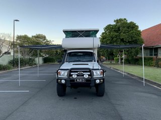 2008 Toyota Landcruiser VDJ79R GXL White 5 Speed Manual Utility.
